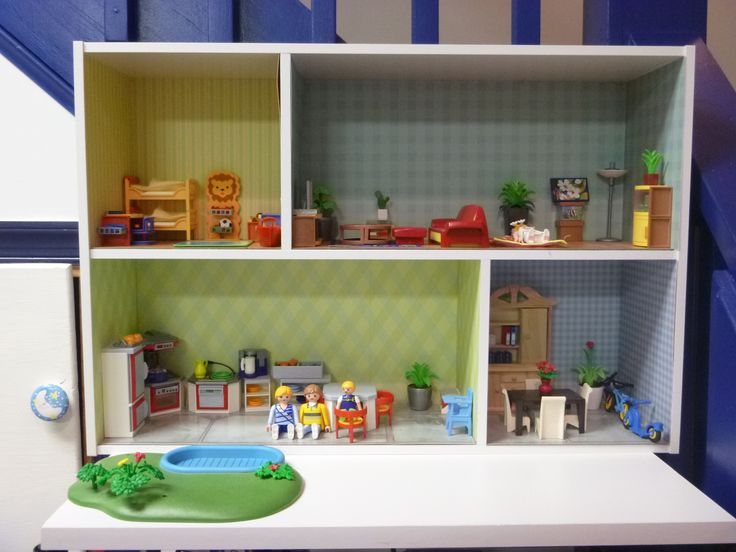 House for Playmobil figures and furniture
