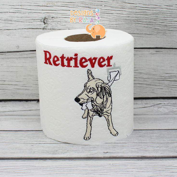 Retriever embroidered toilet paper  dog lover gift  dog decor  birthday  gift  funny gag gift  white elephant  bathroom decor  joke gift. Best 25  Elephant bathroom decor ideas on Pinterest   Towel