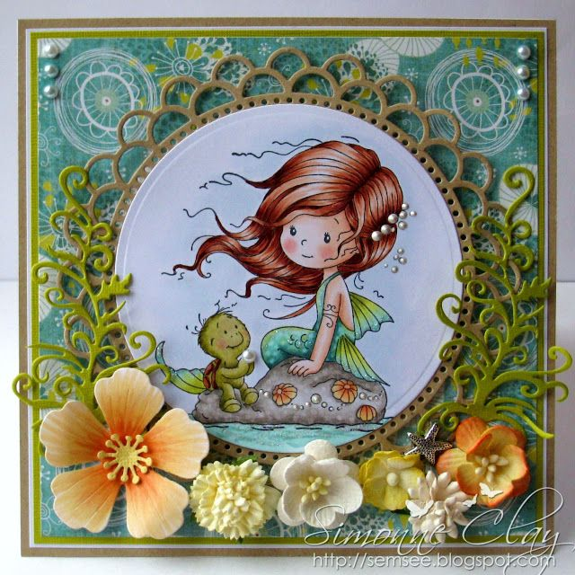 Whimsy Stamps Wee Stamps Shelley - tropical card - bjl