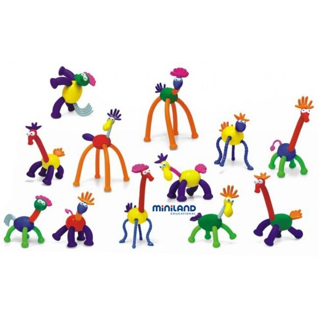 Miniland Animatch - Tumble & Roll Educational Toys. Miniland Animatch will provide children endless fun creating all sorts of amazing creatures. 31 Pieces Included. Suitable for children 3-6 years. $72.00 #educationaltoys #transformationaltoys #kids #toys