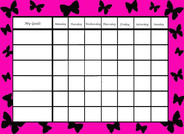 Autism Schedule Template