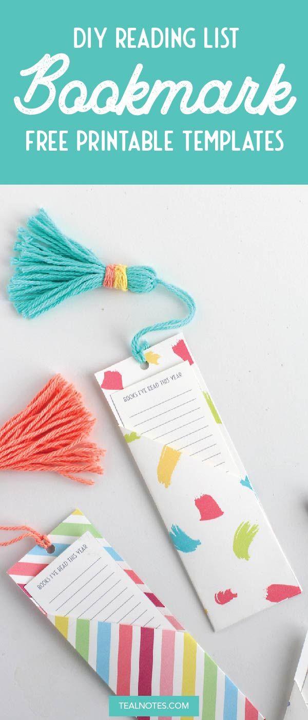 Diy Bookmark With Book List Pocket Handmade Bookmarks Diy Bookmarks Handmade Bookmark Craft