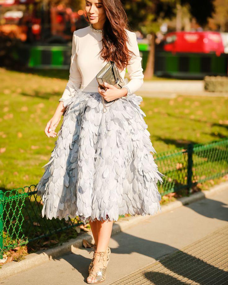 Influencer Tamara Kalinic outside the Chanel show