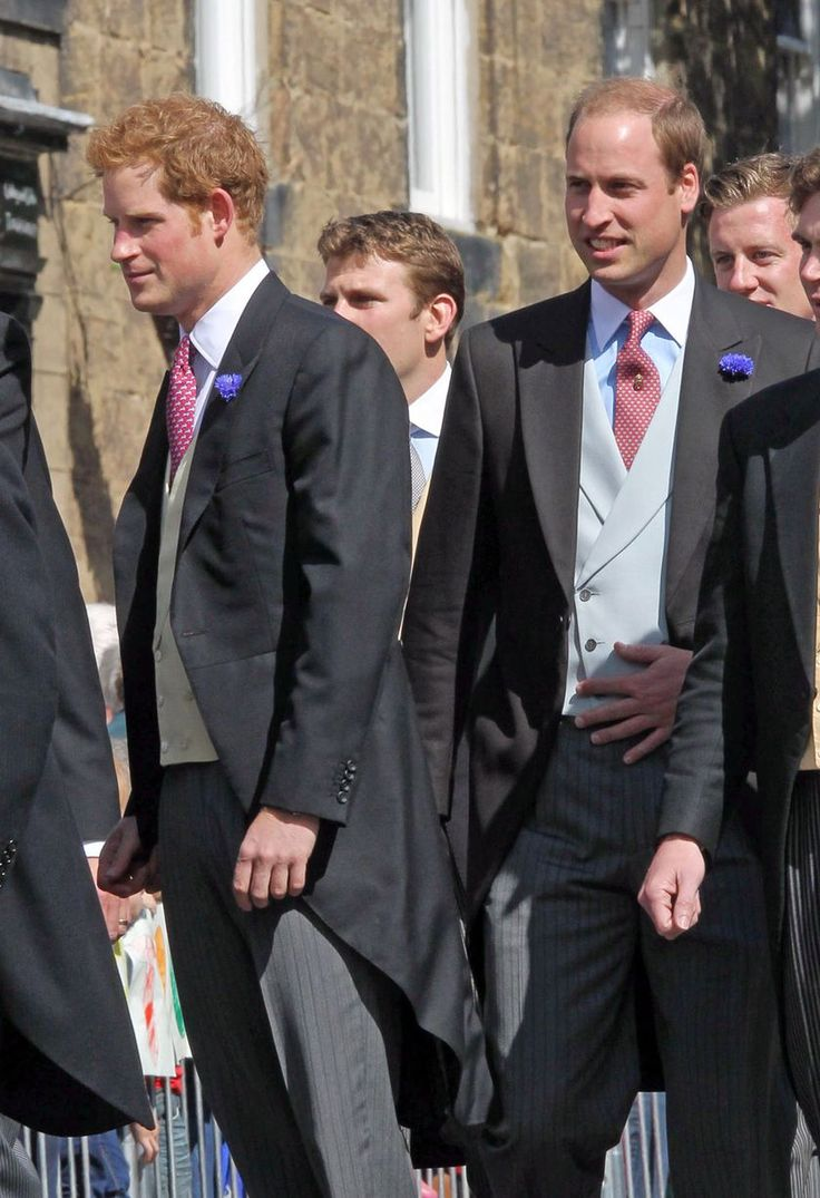 Prince Harry and Prince William attend the wedding of their close friend, Thomas-van-Straubenzee