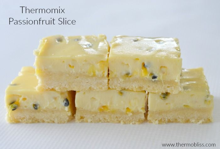 I've been making this Passionfruit Slice for years, so it only seemed right to try making it in my Thermomix and I certainly wasn't disappointed! This Thermomix Passionfruit Slice recipe is so easy to make and is the perfect summer slice to take along to your next BBQ.