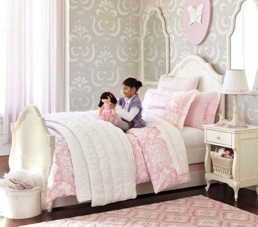 Small Cozy Bedroom For Girls Bewitching Pink Wallpaper In: 1000+ Images About Kids Bedding On Pinterest