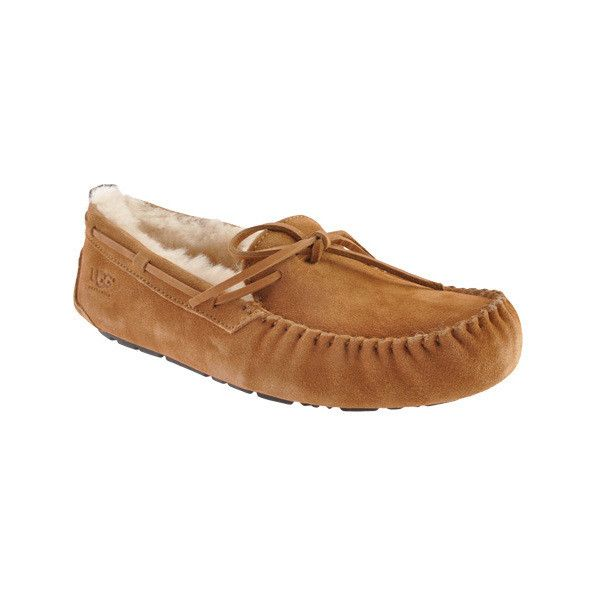Men's UGG Olsen Slipper ($110) ❤ liked on Polyvore featuring men's fashion, men's shoes, men's slippers, brown, casual, comfort slippers, ugg mens shoes, ugg mens slippers, mens moccasin slippers and mens shoes