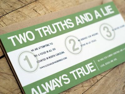 Two truths and a lie party game for adults - Rules and how to play two truths and a lie party game