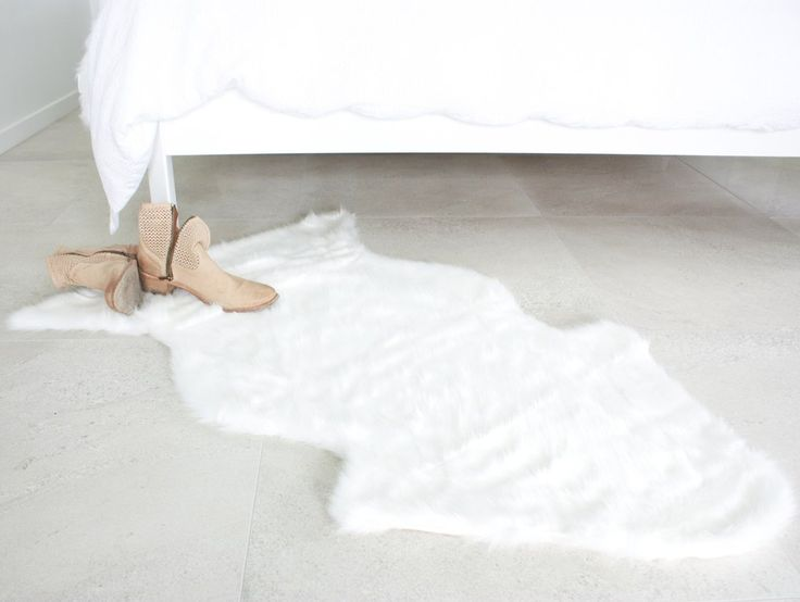 Arctic Faux Fur Rug NZ $55, I am lined with quality white suede holding my place on your floor.