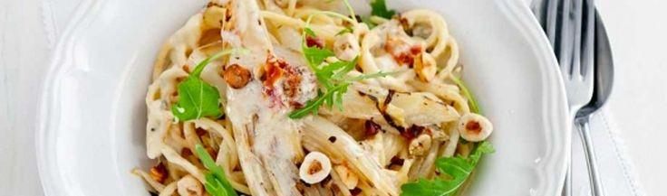 Spaghetti met witlof en gorgonzola
