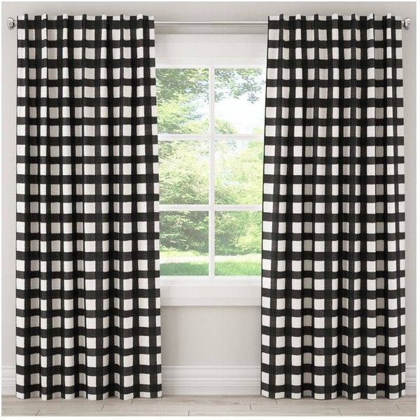 unlined buffalo check curtain panel skyline furniture target liked on polyvore featuring home home decor window treatments curtains target home