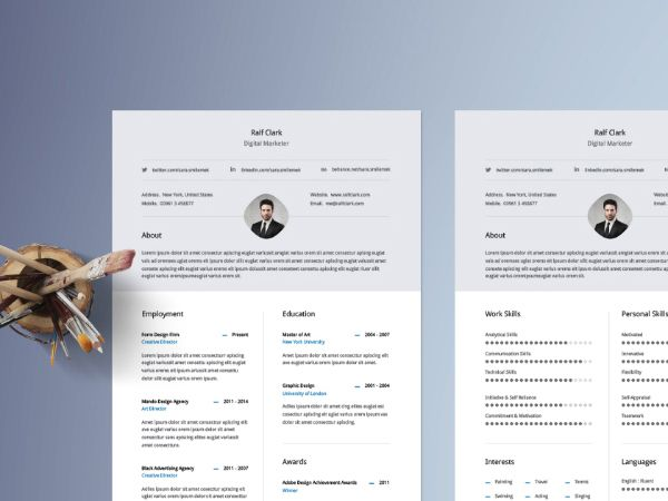 296 best #Resume images on Pinterest Resume design, Creative - resume website template