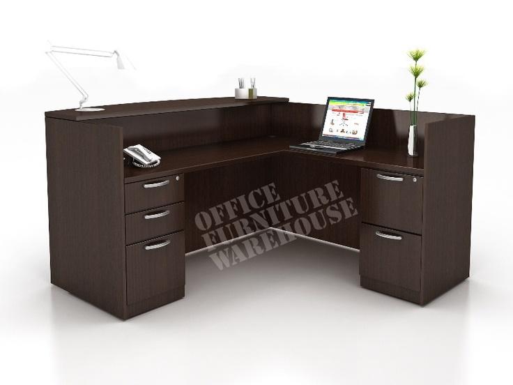 reception black wrap desk - Google Search