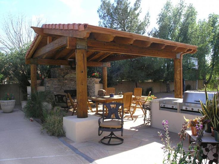 Freestanding Pitched Roof Pergola Plans