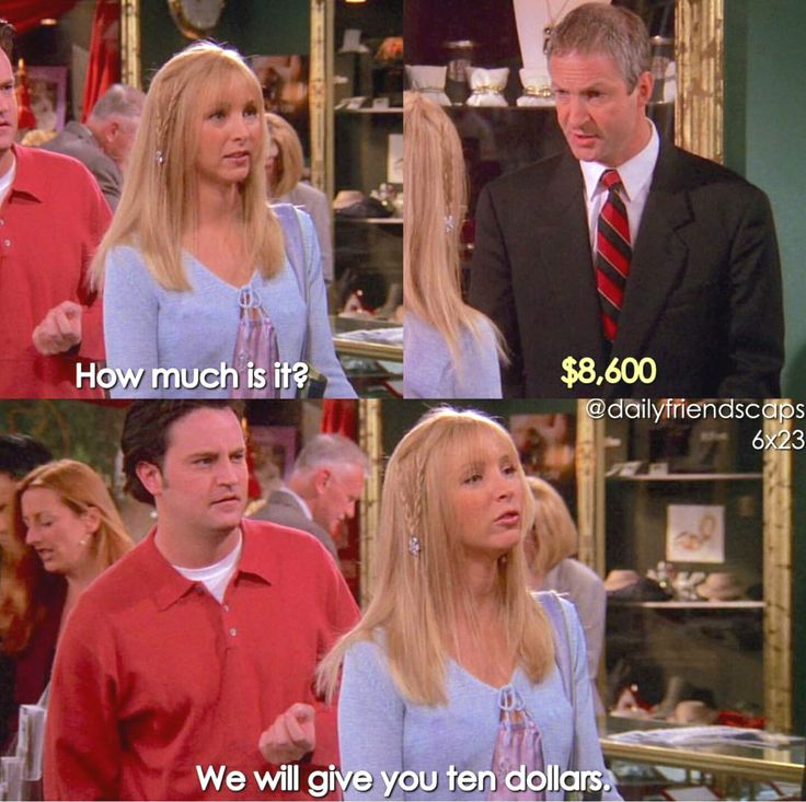 Image result for friends show funny quotes about money