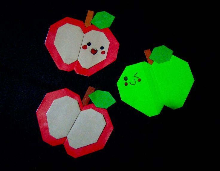 origami maniacs 169 cute origami apple manzanita de