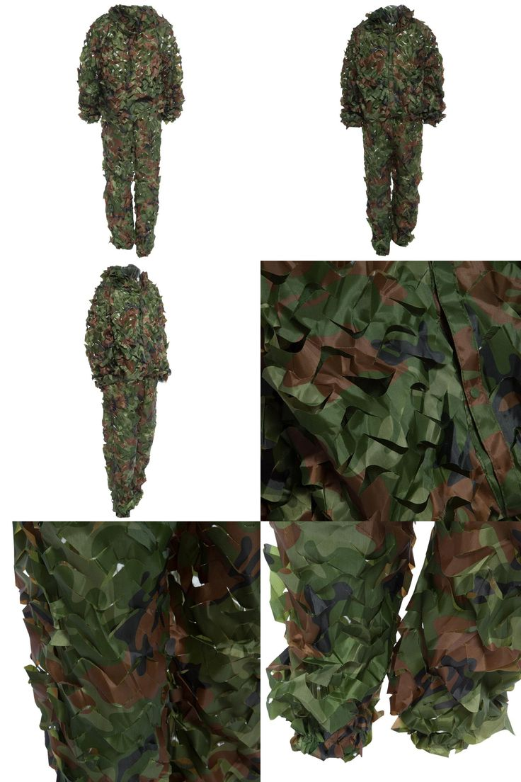 [Visit to Buy] 2016 Newest Lifelike Hunting 3D Tactical Camo Leaf Camouflage Suits Ghillie Bionic Training Suit Set CS Savage Kit Storage #Advertisement