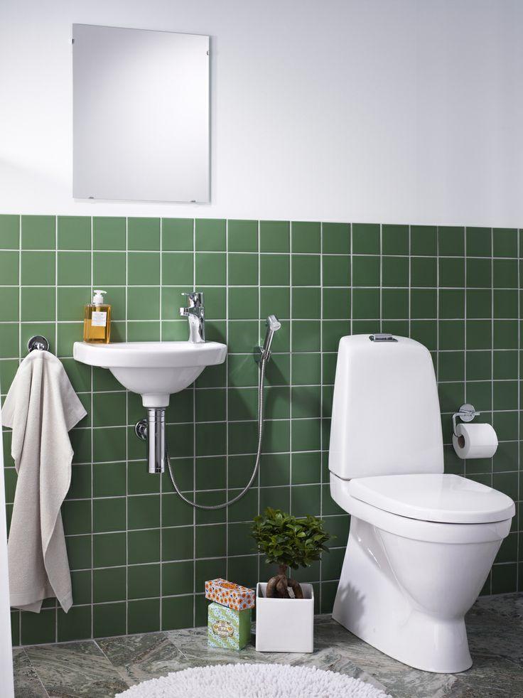 Duschset. En handdusch vid toaletten kan fungera som bidé och underlättar vid städning | GUSTAVSBERG