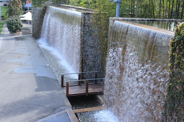The big waterfalls Roma Street Parklands, Brisbane
