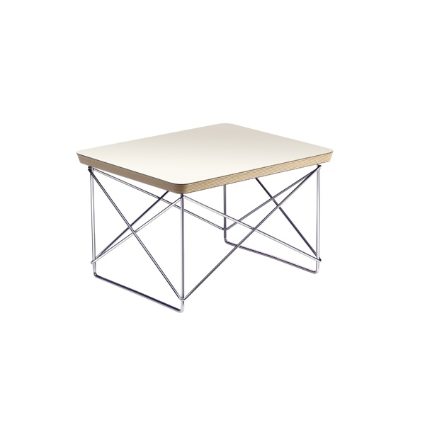 OCCASIONAL TABLE LTR BY CHARLES EAMES (WHITE)