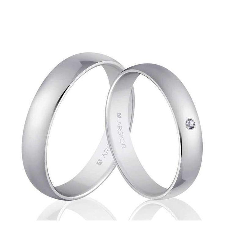 Alianzas de boda clásica Oro 1ª Ley 18Kts. blanco media caña 4mm Argyor ref. 5B405 18K al mejor precio, urgentes en 48h, económicas y con grabación de regalo.