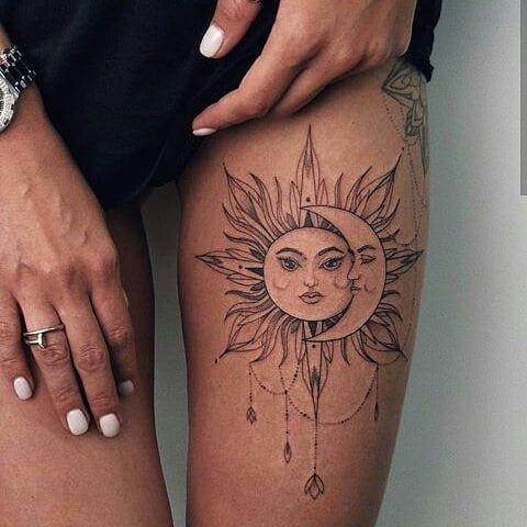 Stunningly Hot Sun Tattoos – Page 41 of 47