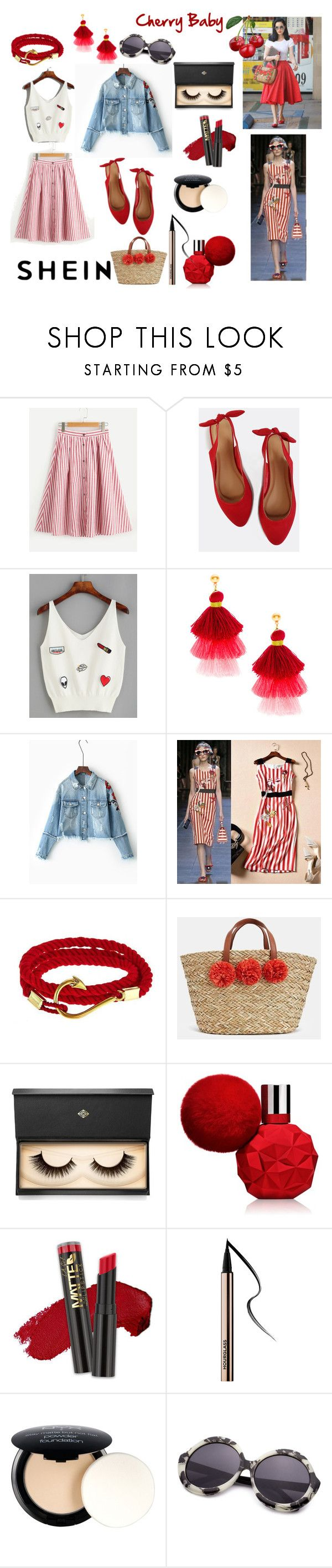 Cherry Baby by paisleyvelvetandlace on Polyvore featuring JustFab, Lash Star Beauty, NYX and L.A. Girl