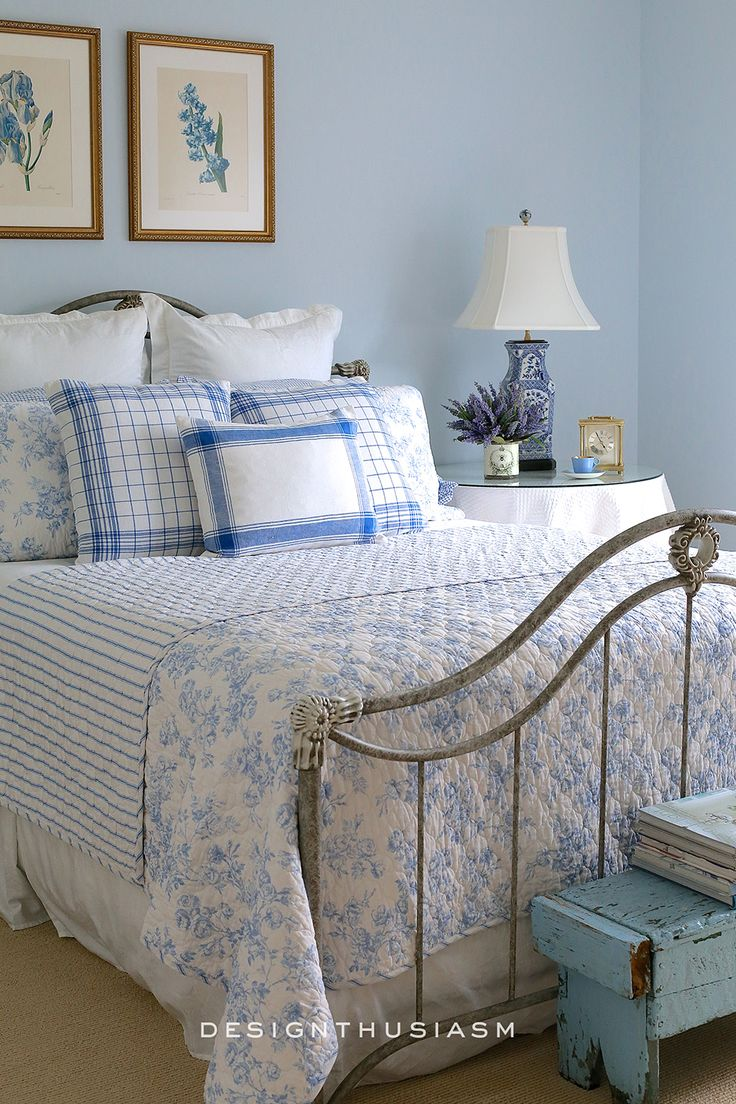 French Blue Guest Room for a Bon Nuit. 1143 best images about Bedrooms and Baths on Pinterest   Quilt