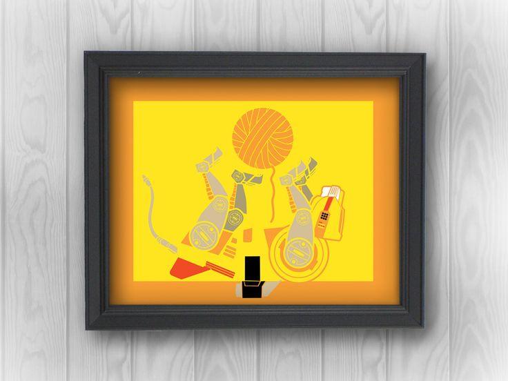 Voltron Robot Lion: Yellow Legendary Defender, anime, funny, parody, cat, yarn | Minimalist Pop Art | Canvas Wall Decor, Print, Sticker by RemixComix on Etsy