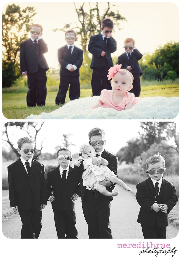 Secret service brothers, four boys and little sister. Love it!
