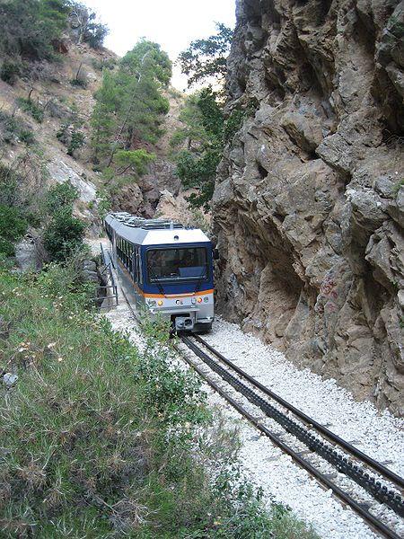 Diakofto Kalavrita railway ,Greece