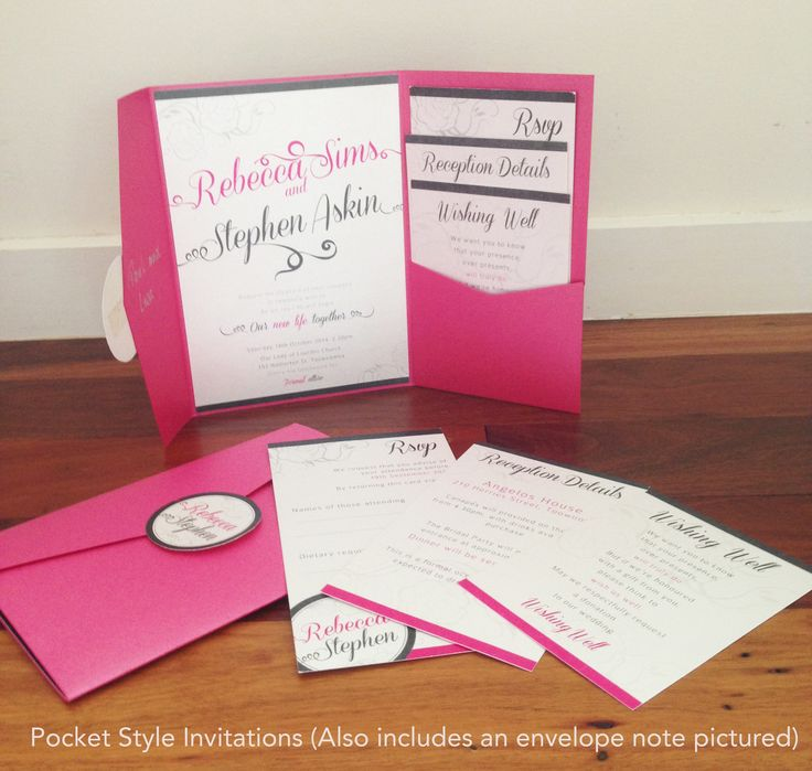Pocket style wedding invitations - these are so popular at the moment! They come in a range of different colours and all the inserts are completely custom designs :-)