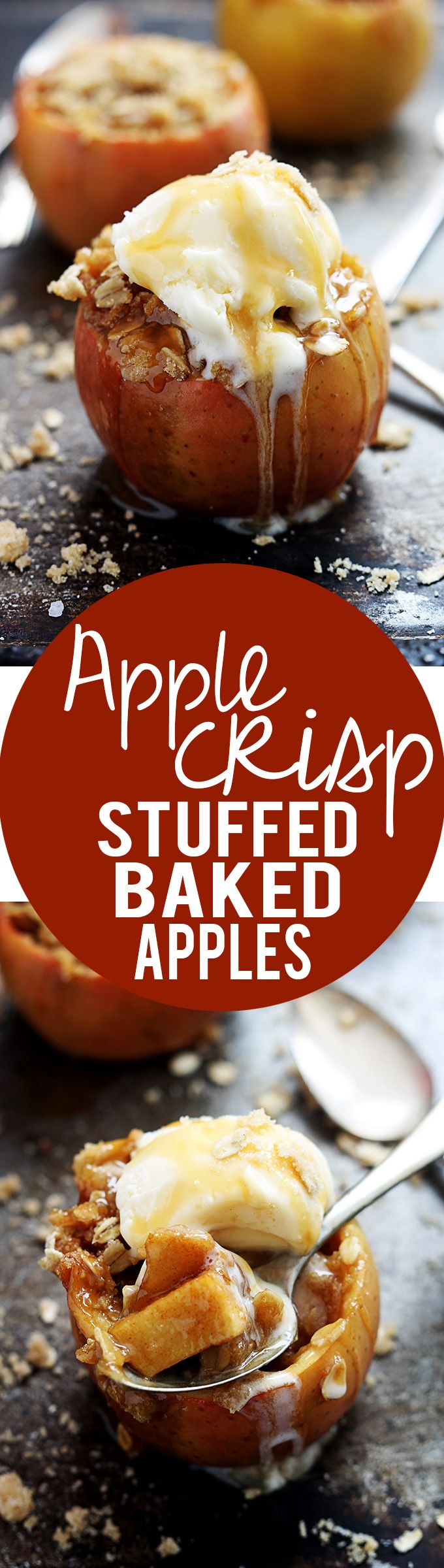 Apple Crisp Stuffed Baked Apples | Creme de la Crumb