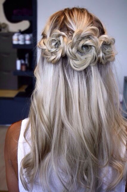 So this is pretty cool half up half down hairstyle!