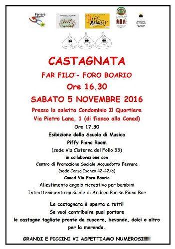 Ferrara: Castagnata musica e giochi per il quartiere col gruppo Far Filò