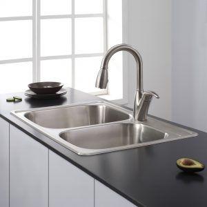 top mount kitchen sinks stainless steel