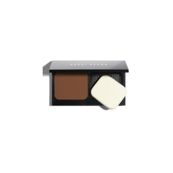Bobbi Brown Skin Weightless Powder Foundation (63 CAD) ❤ liked on Polyvore featuring beauty products, makeup, face makeup, foundation, warm almond, oil free foundation, oil free powder foundation, powder foundation, creamy foundation and bobbi brown cosmetics