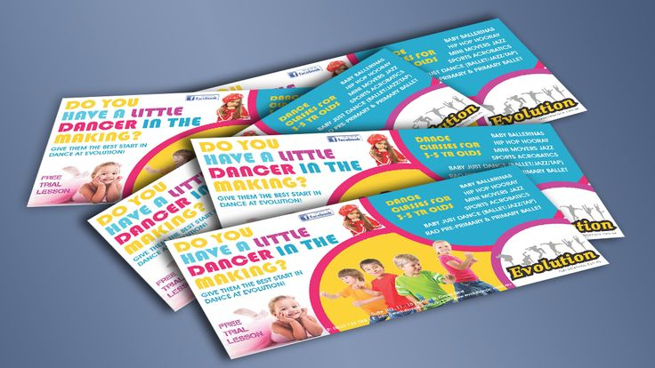 Dance flyers for kids up to 5yrs