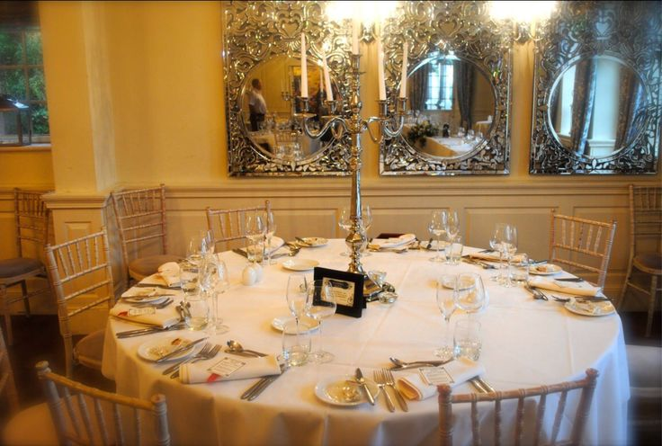 Table settings from Sorrel & Andy's Harry Potter Wedding. Sorrel owns and runs Ambience Venue Styling North  Lancashire.