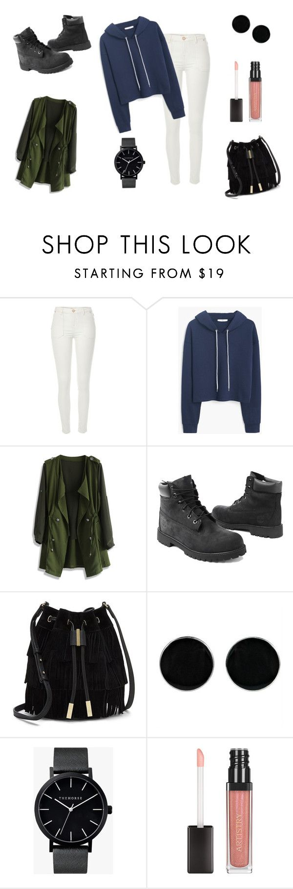"""""""Autumn is cold :))"""" by dagusia112 on Polyvore featuring moda, River Island, MANGO, Chicwish, Timberland, Vince Camuto, AeraVida i The Horse"""