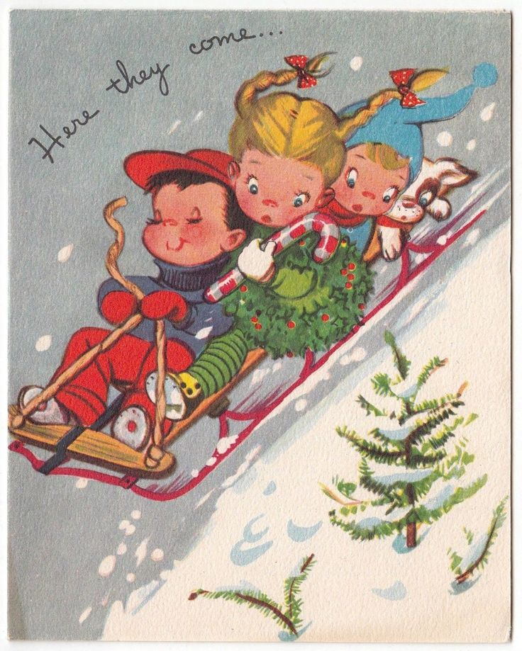 """Vintage Greeting Card Christmas Children Sled Riding Snow Dog Crestwick FOR SALE • $2.95 • See Photos! Vintage Greeting CardUsed/SignedNo residue on the back""""Crestwick""""5.25"""" x 4.25"""" See my other listings for more Vintage Greeting Cards ………………………………………………………………………………… I will combine shipping on multiple purchases Please wait to pay 391920575901"""