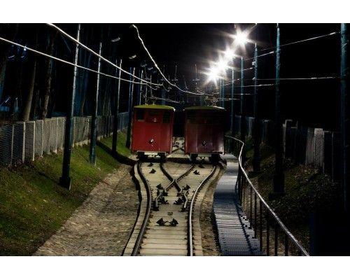 Postcard Kaunas funicular Andrius Matvejevas