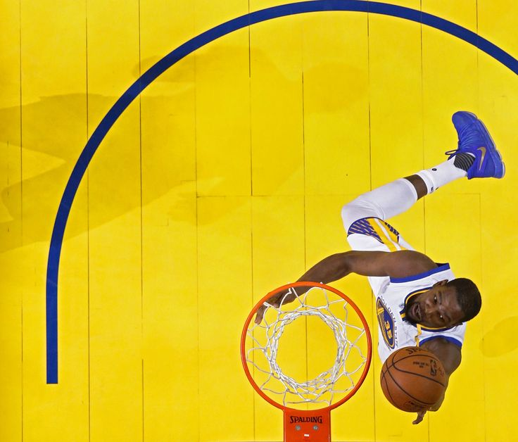 Kevin Durant of the Golden State Warriors took a shot on Monday, when his team defeated the Cleveland Cavaliers, 129-120, to win the National Basketball League championship in five
