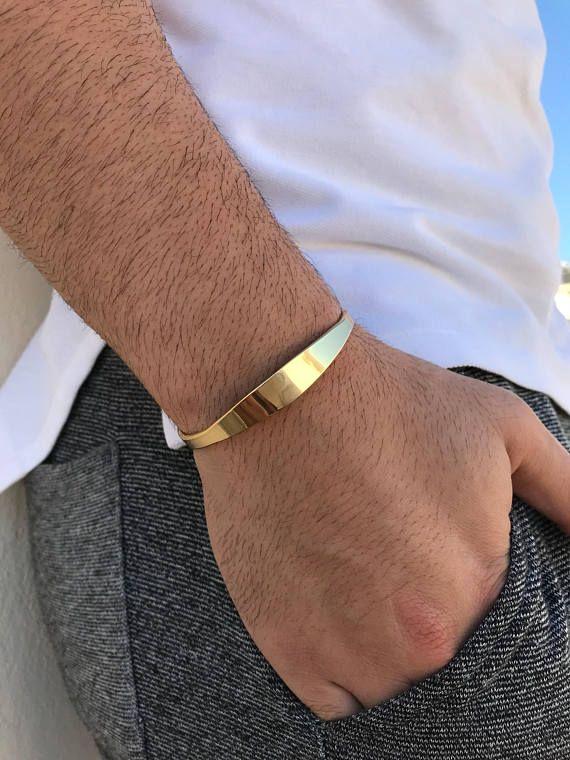60b5e744d49 Men's Bracelet, Gold Bangle Bracelet, Bangle Bracelet Men, Cuff ...