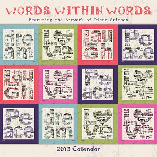 Calendar Word Art : Words within wall calendar this unique