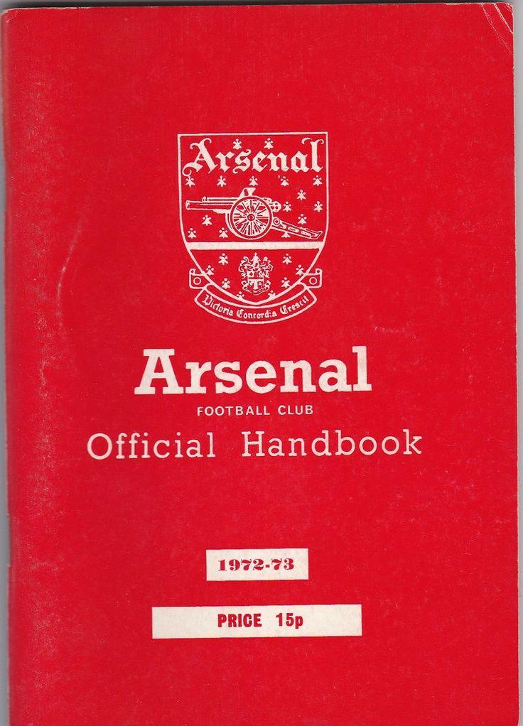 Arsenal Football Club Official Handbook, 1972/73 season #football #soccer #arsenal