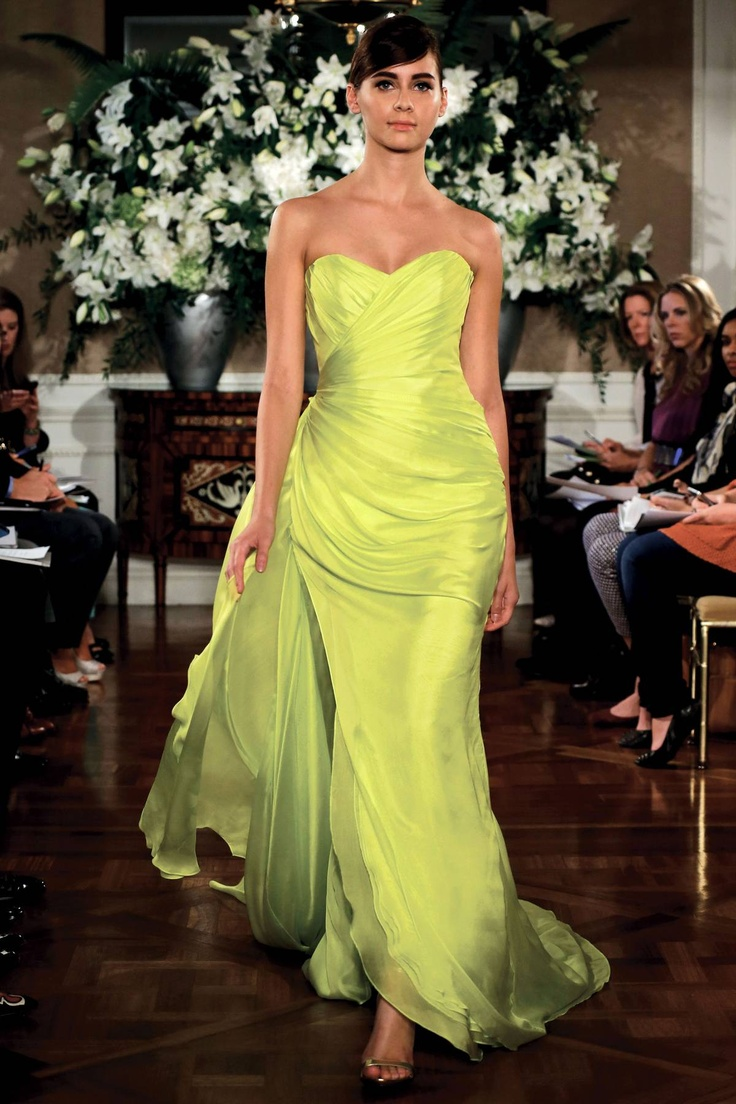 187 best romona keveza collection images on pinterest wedding romona keveza spring 2013 rtw fashion show chartreuse weddingbridesmaid ombrellifo Choice Image