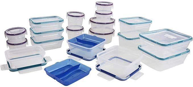 Snapware Plastic Food Storage Set 38 Pieces Review Plastic Container Storage Plastic Storage Dish Storage