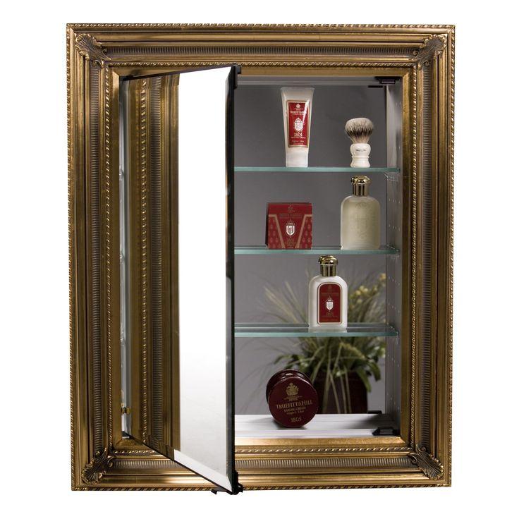 Afina Vanderbilt Single Door Recessed Baroque Medicine Cabinet   X In.   A  Best Seller In The Afina Line, The Afina Vanderbilt Baroque Single Door  Medicine ...
