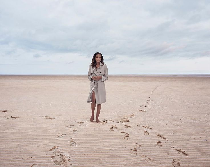 """Here's Naomie Harris photographed by @philfisk for @bafta. The beautiful beach is the cleverly named Wells-Next-The-Sea in Norfolk. Love the footprints. Don't miss some of his other Bafta portraits exhibited at """"Camera Press at 70"""" at the @abprojectspace in Bermondsey till the end of the week. @camerapress_photography  #naomieharris #weareflock #bafta #portraitphotography #britishbeach #fortheloveoffilm"""